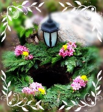 Blommor vid urnsättning